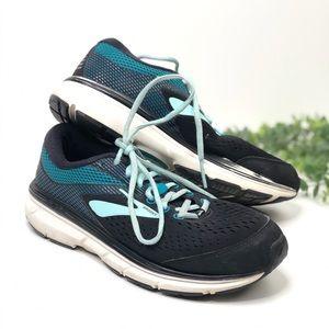Brooks Dyad 10 Running Sneakers Black Blue Sz 7.5